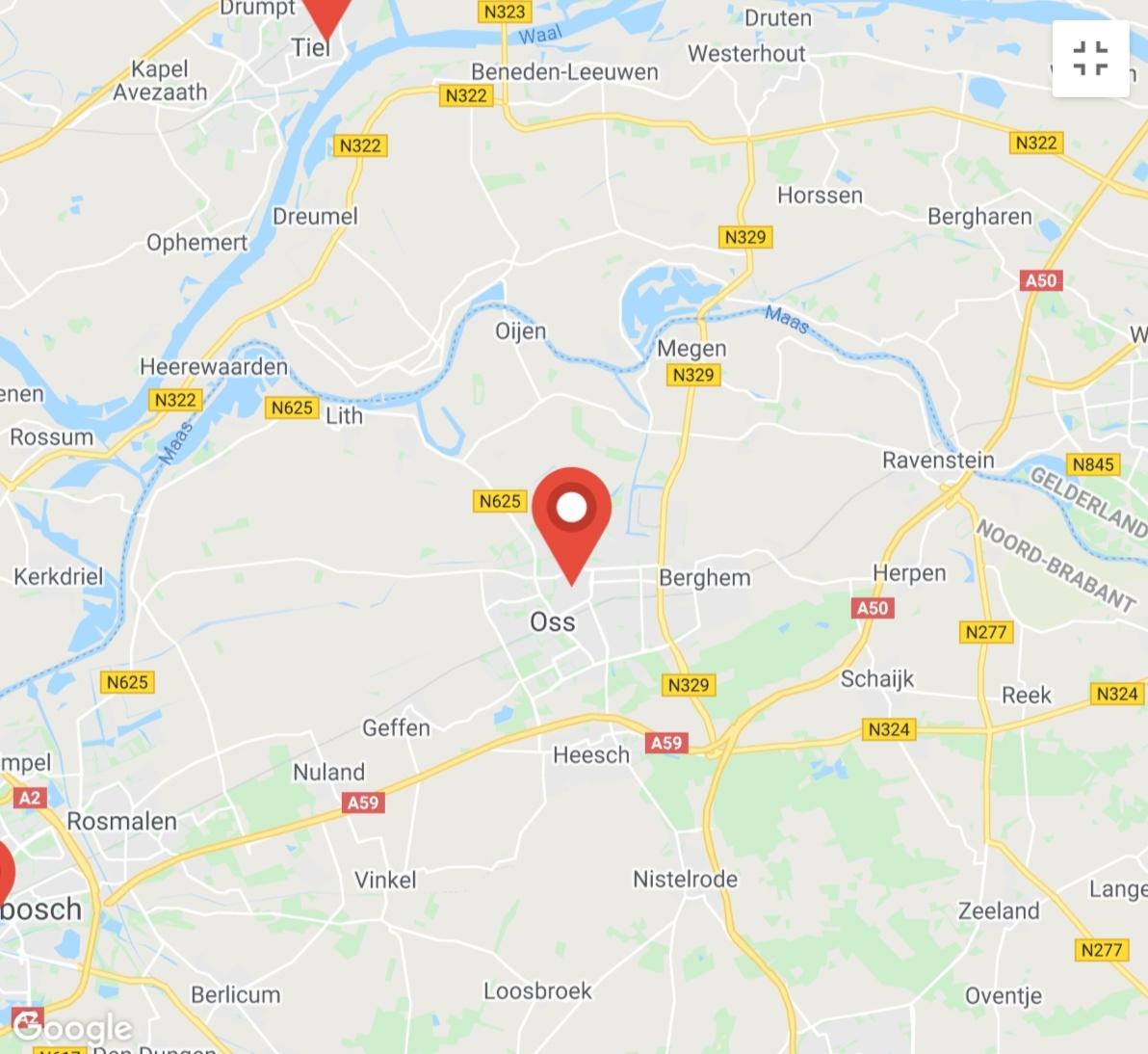 Kaart coronatest-zaltbommel.com - Coronavirus test locaties Den Bosch